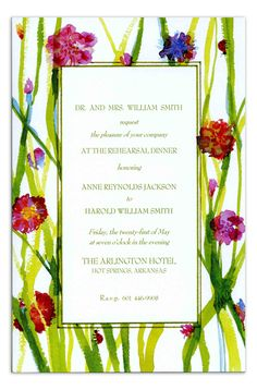 Lady Bugs Invitation