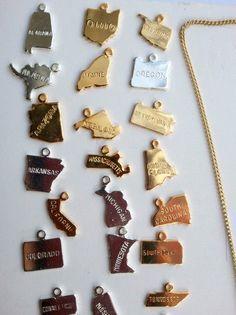 Birdhouse Jewelry: State Charm Necklace