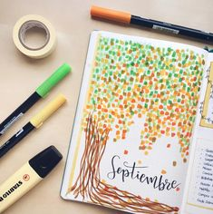Amazing fall themed bullet journal cover pages! Everything you need to know about Bullet journal cover pages plus tons of inspiration for fall! Discover cover pages for September, October and November! Bullet Journal Inspo, Future Log Bullet Journal, Bullet Journal September Cover, Bullet Journal Simple, Bullet Journal Minimalist, Bullet Journal Travel, Bullet Journal Quotes, Bullet Journal Cover Page, Bullet Journal 2019