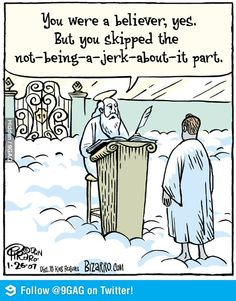 """Believers... Pfft, nearly everybody on my facebook who is """"Christian"""""""