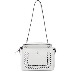 Fendi Dotcom Grommet And Woven Purse ($2,900) ❤ liked on Polyvore featuring bags, handbags, shoulder bags, man bag, leather shoulder bag, shoulder handbags, leather handbags and woven-leather handbags