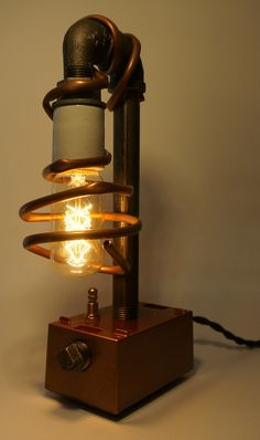 this item is sure to add a little machine age appeal to your home or copper ageedison bulbsdesk
