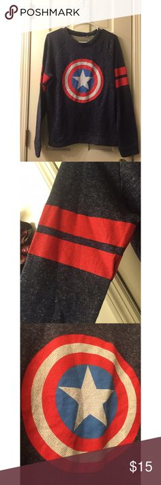 Captain America Sweater Sweater material •• New with tags •• Comment for more questions or pictures •• Kohl's Tops Sweatshirts & Hoodies