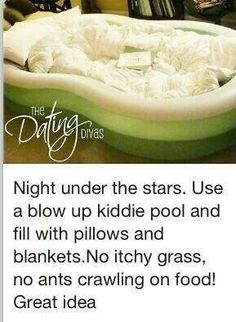 The cutest idea! Definitely doing this ASAP! Great for watching the stars