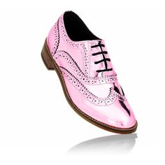 Unisex Metallic Wingtip Brogues