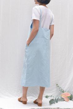 22ec4c88423 Baserange Overall Dress - Detian Blue