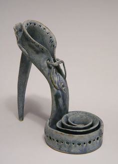 TOWN AND COUNTRY Clay Shoe Sculpture by shoefactory on Etsy,