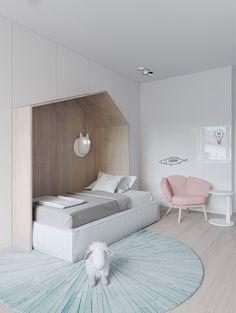 Petite, Precious & Pastel Home Interior - This petite apartment is awash with calming pastel colours Girl Room, Girls Bedroom, Bedroom Decor, Corner Deco, Home Interior, Interior Design, Modern Interior, Deco Kids, Appartement Design