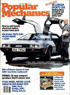 DMC DeLorean. Popular Mechanics Jun 1981.