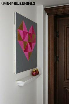 * Angel of Berlin: [DIY] Geometric Art for the Hallway/Entry