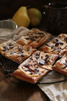 Pear Chocolate Cream Cheese Danishes - Country Cleaver