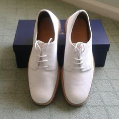 333cd896d97fd Brooks Brothers Classic bucks Men s Gorgeous classic bucks in white rich  nubuck! In near perfect condition!