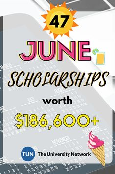 June Scholarships Here is a selected list of June Scholarships. - College Scholarships Tips Grants For College, Financial Aid For College, College Planning, Education College, College Tips, Financial Planning, Financial Assistance, Kids Education, School Scholarship
