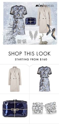 """""""Tis the Season"""" by looking-for-a-place-to-happen on Polyvore featuring Harris Wharf London, self-portrait, Benedetta Bruzziches, Lene Bjerre, Paul Andrew, minidress, WhySoBlue and ShimmerandShine"""