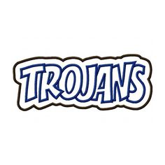 Trojans Embroidery Machine Double Applique Design 2265 by kayelee