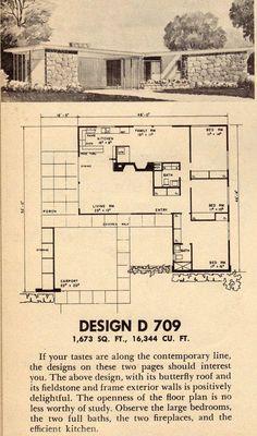 Unbelievable Modern Architecture Designs – My Life Spot Vintage House Plans, Modern House Plans, Small House Plans, House Floor Plans, Vintage Houses, Modern Houses, Small Houses, Interior Design Blogs, Mcm House