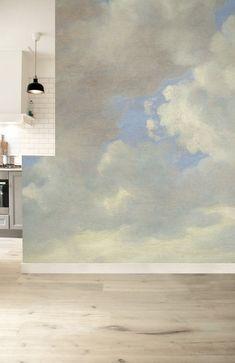 KEK Amsterdam Behang Golden Age Clouds ll - Golden Wallpaper, Cloud Wallpaper, Wallpaper Murals, Bedroom Murals, Wall Murals, Wall Clock Sticker, Sky Ceiling, Burke Decor, Textured Walls
