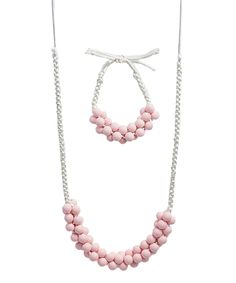 Baby Pink Emily Teething Necklace & Bracelet