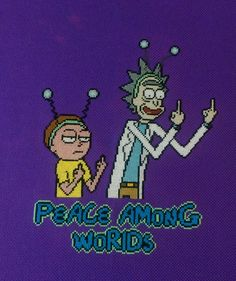 [FO] Finished the Rick and Morty: Peace Among Worlds stitch for a creative giveaway stream