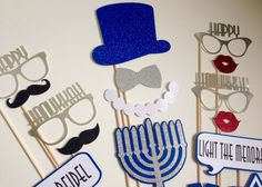 ON SALE TODAY Hanukkah Photo Booth Props . Happy by ThePropMarket
