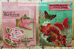 Cards featuring K Andrew Designs Scripture Sayings and Positive Thoughts stamp sets. http://indymermaid.blogspot.com