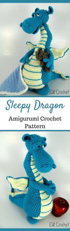 Amigurumi Sleepy Dragon Crochet Pattern Printable #ad #amigurumi #amigurumidoll #amigurumipattern #amigurumitoy #amigurumiaddict #crochet #crocheting #crochetpattern #pattern #patternsforcrochet #printable #instantdownload #dragon