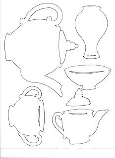 Amy's Etcetera tea party photo booth props templates