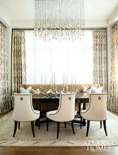 Dining Room, Breakfast Nook | Ritz Dining Chairs | Thomas Pheasant Collection | Baker Furniture via Mark Williams Design