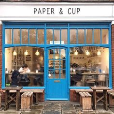 Paper & Cup in Shoreditch find - Snapped by @jessonthames #London #coffee #storefront #travel #shop_window