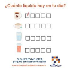 Hola qué tan hidratado es tu día? Vamos marcando qué tantos líquidos tomamos al día te parece?