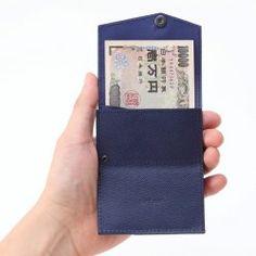 【小さい財布 ネイビー】ほぼカードサイズの「小さな財布」。 - All About スタイルストア