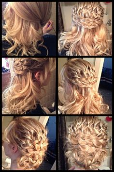 Half updo or all the way pinned up. Cute teen updo for wedding