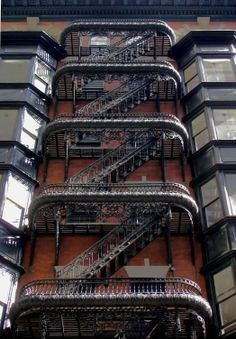 Most beautifull fire escape - St. near Chestnut, Philadelphia (Steampunk Tendencies) Amazing Architecture, Architecture Details, Space Architecture, Fire Escape, Take The Stairs, Stairway To Heaven, Stairways, The Neighbourhood, Around The Worlds