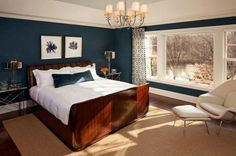 20 Marvelous Navy Blue Bedroom Ideas