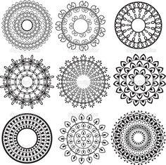 Индийская мандала — стоковая иллюстрация #9857917