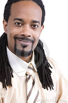 Handsome Men With Dreadlocks | Handsome young black man with dreadlocks; isolated on white background ...