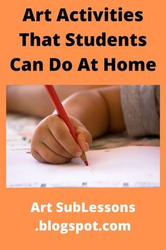 If you need elementary art lesson activities that kids can do at home, this blog post links to some. They are cheap and you only  have to print off a worksheet for each student. The directions and space to work are on that one sheet. Art Lessons Online, Online Art Classes, Art Lessons For Kids, Art Lessons Elementary, School Lessons, Art Sub Plans, Art Lesson Plans, 2nd Grade Art, Fourth Grade
