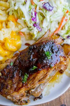 These slow cooker pork ribs are fall-off-the-bone delicious! The slow cooker makes them incredibly tender and moist, and the honey balsamic glaze just doesn't need an explanation. They are SO easy to make! Slow Cooker Short Ribs, Pork Short Ribs, Beer Braised Short Ribs, Slow Cooker Pork, Pork Ribs, Pork Rib Roast, Pork Roast Recipes, Meat Recipes, Slow Cooker Recipes