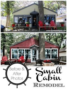 Small Cabin Remodel - An entire home renovation! - www.refashionablylate.com