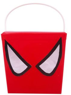Spiderman party theme RED party noodle boxes - decorated with eyes - backorder via contact page  - Orders take approximately 3 - 4 business working days. BUY more Spiderman party products online www.24-7partypaks.com.au SHOP