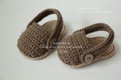 Crochet baby sandals baby slip