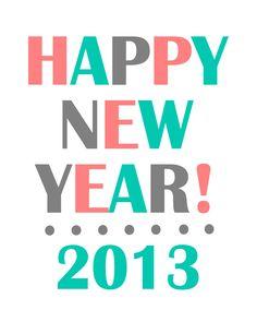 Happy New Year 2013 print on { lilluna.com }