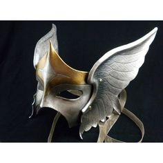 valkyrie leather mask found on Polyvore featuring women's fashion, costumes, masks and leather costume
