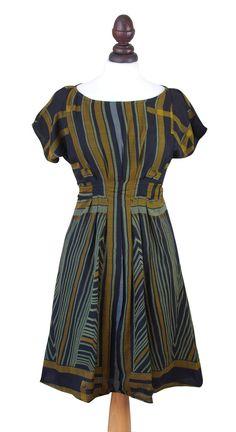Eucalyptus's Art Deco print dress
