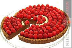 Tarta cu ciocolata si zmeura | Adygio Kitchen #adygio #chocolatetart