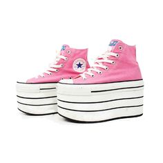 Platform Converse ❤ liked on Polyvore featuring shoes and sneakers