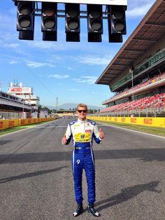 Track Walking w/Marcus Erricson ahead of the 2015 #F1 Spanish GP