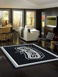 Custom-Mats by Gallant   Custom Mats - San Antonio - San Antonio Spurs NBA Team Spirit Rug -