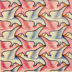 #Escher #Tessellation #Tiling #MC_Escher #Geometry #Symmetry My interpretation of Mc Escher symmetry nr 19
