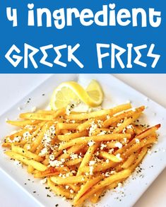 Side Dishes Easy, Side Dish Recipes, Easy Dinner Recipes, Appetizer Recipes, Easy Meals, Appetizers, Greek Fries, Clean Recipes, Cooking Recipes